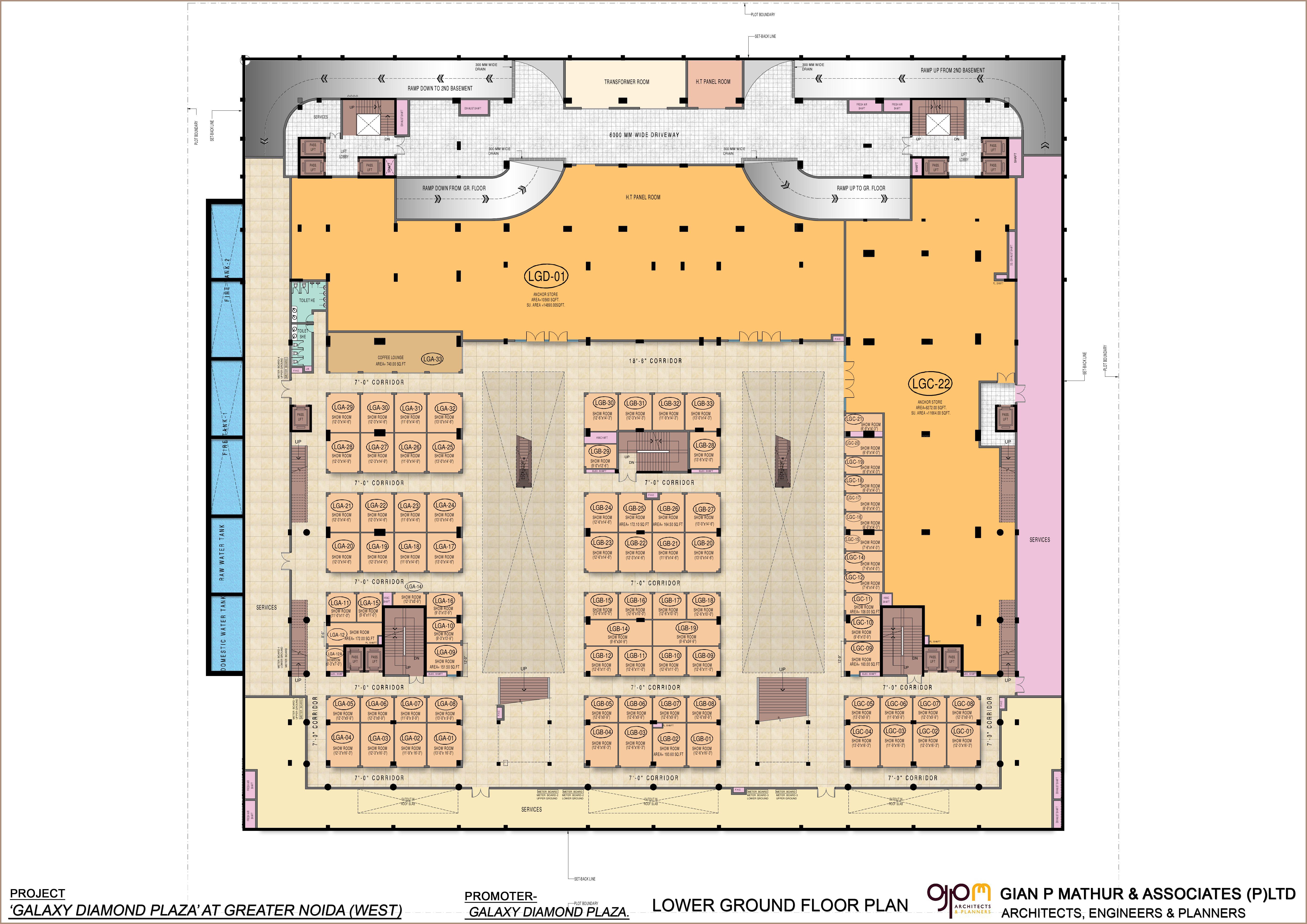Galaxy Diamond Plaza Floor Plan, Noida Extension